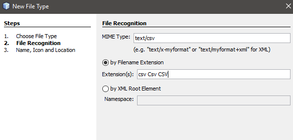 CSV File Recognition